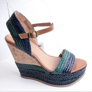 NWT Mossimo Cork Wedge Sandals